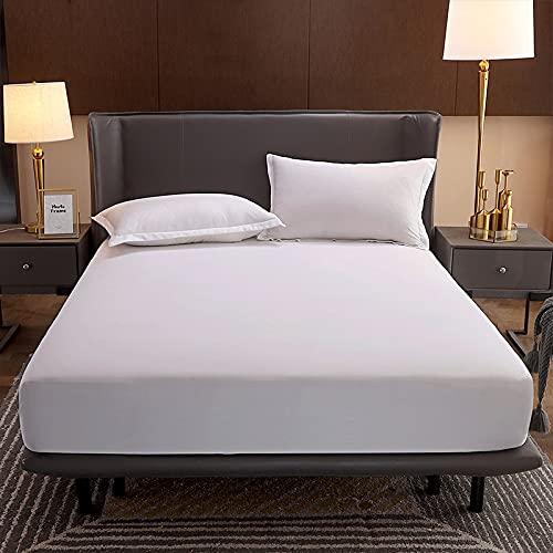 HAIBA Comfy Nights - Sábana bajera ajustable de polialgodón teñida (120 cm x 200 cm + 25 cm)