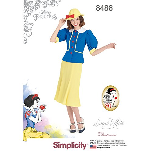 Simplicity US8486H5 Disney Women's Snow White Costume Sewing Pattern, Sizes 14-22