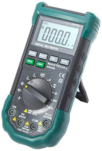 MASTECH MS8268 Multimetro Digitale Professionale Allarme di Suono e Luce Auto Gamma Misurazione della Frequenza e Capacità Fusibile Ripristinabile