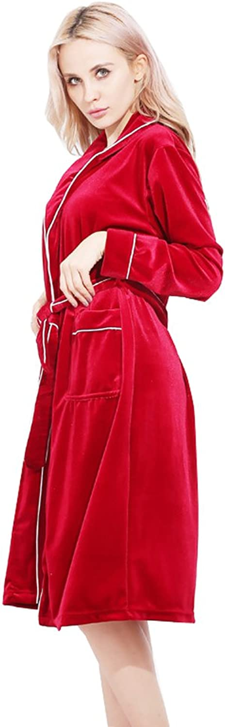 Kelaixiang Womens Sexy Long Sleeve Slip Slim Night Gown Robe 2pcs Set