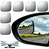 URATOT 6 Pack Fan-Shaped Automobile Rear Blind Spot Mirror, 360° Rotate Design, Unique Wide Angle Mirror Safety for All Car Truck Motorcycles SUV RV and Van