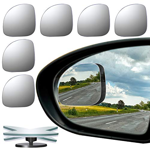 in budget affordable URATO T 6 fan type car mirror for brat spot, 360 ° rotatable design, unique wide angle …