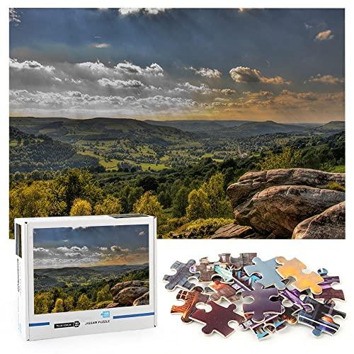 Tierra oscura Juguetes educativos para adultos 1000 piezas Naturaleza del paisaje Juego clásico de colaboración en equipo a gran escala-70x50cm