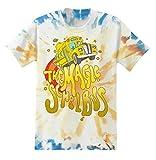 The Magic School Bus Shirt Ms. Frizzle Mens Tie Dye Graphic T-Shirt (Tie Dye, Medium)