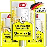 PIC Lebensmittel-Mottenfalle - Dreierpack = 6 Stck - Mittel zur Bekmpfung und Schutz vor Motten in der Kche und Lagerrumen