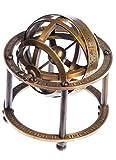 JapanAttitude Sphère armillaire en Laiton Astronomie 9cm Vintage Pirate Steampunk Globe