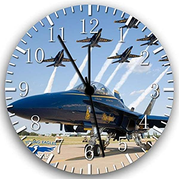 Navy Blue Angels F18 Frameless Borderless Wall Clock W153 Nice For Gift Or Room Wall Decor