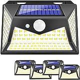 Solarlampen für Außen,Wasserdichte Wandleuchte 118Led Solar Bewegungsmelder, IP65 Solar Beleuchtung 270°Superhelle Solarlicht 3 Modi Solarleuchten Garten(4 Stück)