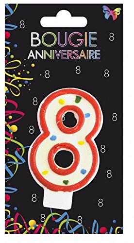 Aptafetes - Bougie anniversaire 8