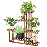 Wooden Plant Stand Shelf 5 Tier Flower Pot Holder Multi-Shelvings...
