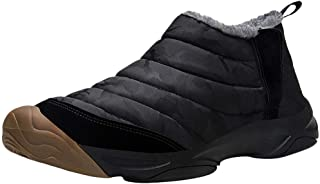 Winter Snow Boots Slip-on Water Resistant Booties for Men Women, Anti-Slip Lightweight Ankle Boots with Full Fur