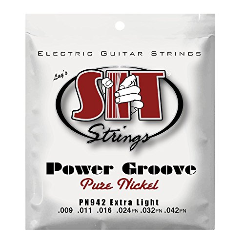 S.I.T. String Extra Light Pure Nickel Wound Electric Guitar String Ex Light (9-42)
