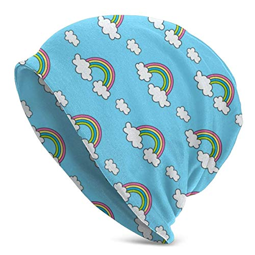 XCNGG Rainbows and Clouds On The Sky Beanie Skull Hat Slouch Baggy Hat para Mujer Hombre