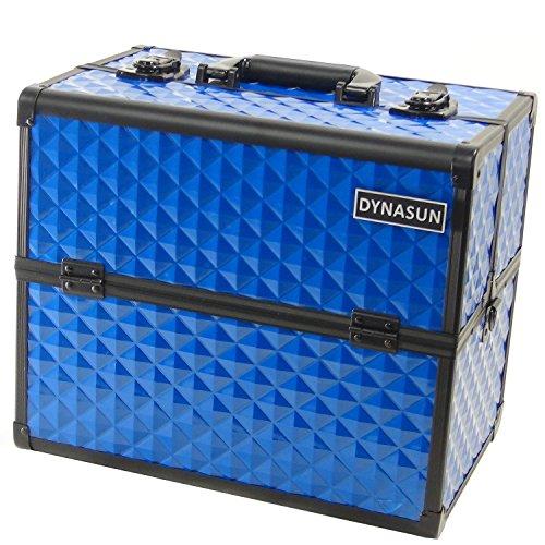 Beauty Case Make Up DynaSun BS38 36x24x30.5cm XXL Blu Professionale Valigia Cofanetto Porta Gioie Smalti Oggetti