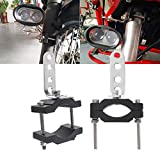ハンドルバー ホルダー バイク LEDフォグランプ 作業灯 ブラケット Φ18~Φ52MM クランプバー オート マウント スマホ ミラーに取り付け金具 挟み込み ステー アダプター ブラック 適合 2個セット