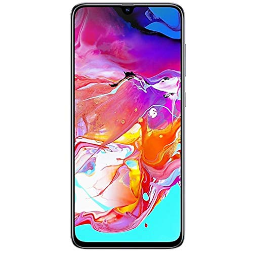 Samsung Galaxy A70 (128GB, 6GB RAM) 6.7' Display, On-Screen Fingerprint, 25W Super-Fast Charging, Global 4G LTE GSM Factory Unlocked A705MN/DS (International Version, No Warranty) (White)