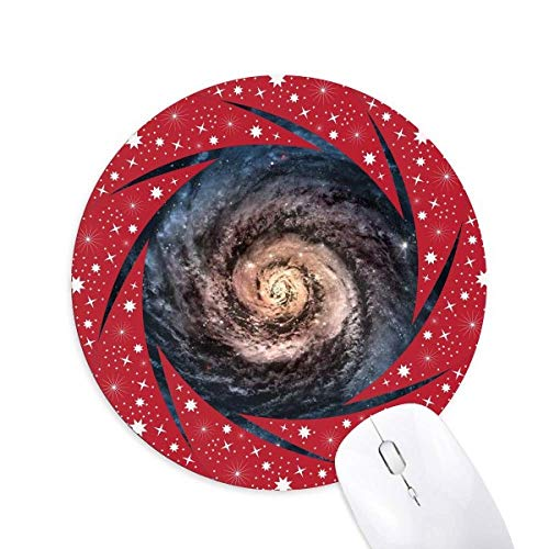 Nebelobject name: Whirlpool Nebula Particles Patterns Wheel Mouse Pad Round Red Rubber