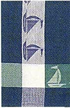 """Traders and Company 100% Cotton Blue & White 20""""x28"""" Dish Towel, Set of 3 - Sailboat Azure"""