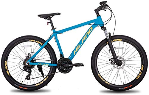 Hiland 26 Inch Mountain Bike for Men with 18 Inch Aluminum Blue