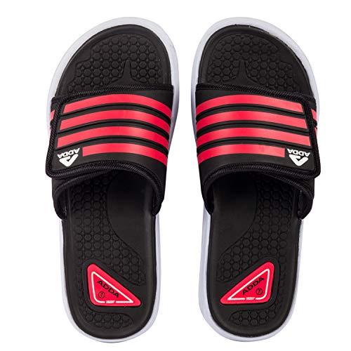 ADDA Senate-4 Men's Black/Red EVA Slides (UK 6)