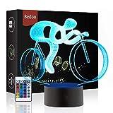 Luci notturne a LED Illuminazione Lampada da tavolo da letto Illusion 16 Colori che cambiano con Smart Touch Button Regalo sveglio regalo Present decorazione creativa artigianato (Bicicletta)