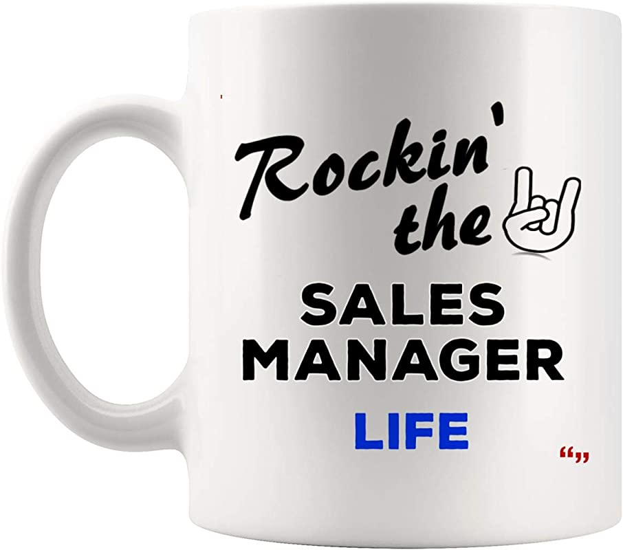 Rockin Life Sales Manager Mug Coffee Cup Tea Mugs Gift Managers Men Women Gifts For Coworker Mugs Sales Management Clerk Merchant Gifts