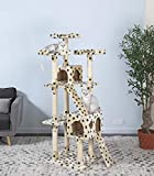 Go Pet Club 72-Inch Cat Tree Condo House Furniture, Paw Print