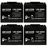 4X Pack - Bladez Electric Scooter: TravelMate Battery - Replacement for UB12220 Universal