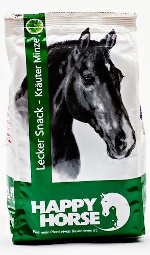 Aperitivos Happy Horse, para caballos, a base de hierbas, hierbabuena, 1kg