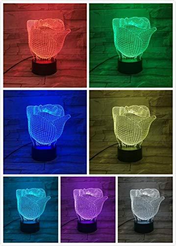 MRQXDP halfronde elegante roos tafel acrylplaat lamp USB touch sensor RBG bloemenverlichting kinderen baby cadeau gadget bloemen LED nachtlampje kamerdecoratie