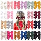 40 lazos para el pelo para niñas de 7,12 cm, clips de cocodrilo de lana, accesorios para el pelo para niñas pequeñas, adolescentes y niños