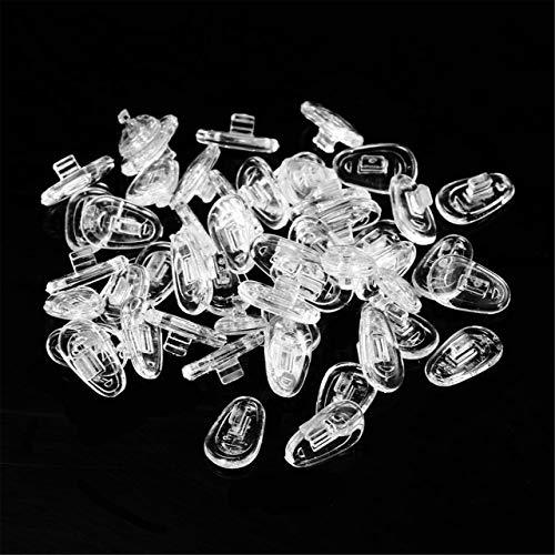 25 paires de plaquettes de nez en silicone pour outil de réparation de lunettes plaquettes de nez lunettes de soleil plaquettes de nez accessoires de lunettes 13mm (Transparent) FRjasnyfall
