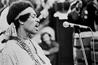 Jimi Hendrix performing on stage at Woodstock 1969 24x36 Poster