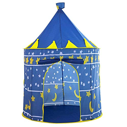 niyin204 Children's and Baby's Play Tent Castle with Carry Bag - Foldable Indoor and Outdoor Sports Tent with Carry Bag - Gift for Children blue