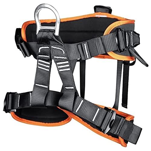 JTSYUXN Absturzsicherung Klettergurte Sicherheitsgurt Taille Klettergurt,Baumpflege Schutz Gürtel Sicherheitsgurt für Damen Herren (Color : Orange)