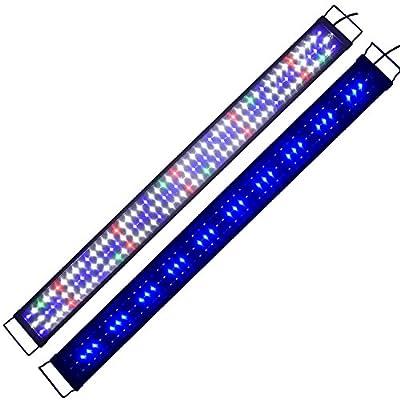 Aquarium Éclairage rampe Simulation Aquarien Eco Plein Spectrum Reef LED lumière Coral Fish Plantes aquatiques Serre Lumières Lampe pour eau douce eau de mer 120cm A175