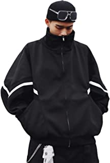 BSCOOLメンズ パーカー ジップパーカー ゆったり 長袖ジャケット ドルマンスリーブ 韓国ファッション ジャンパー オーバーサイズ 秋 冬 ブルゾン 原宿系