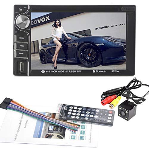 VIGORFLYRUN PARTS LTD Auto Dvd MP4 Player 2 DIN 6,5 Pollici Touchscreen Auto Video Player Bluetooth Supporto Telecamera di retromarcia