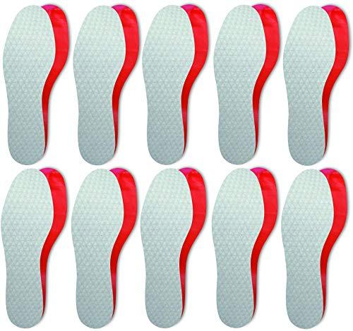 Lenzen 10 Paires de Semelles Intérieures Extra Fines et Hygiéniques, Jetables, Parfum Frais I Pour Chaussures Femme et Homme (41 EU)