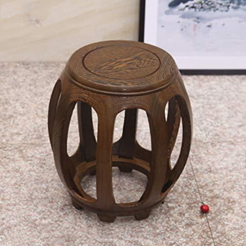 HIGHKAS Massivholz-Trommelhocker Antiker Zither-Hocker Chinesischer Palisander-Hocker 29 * 43 cm
