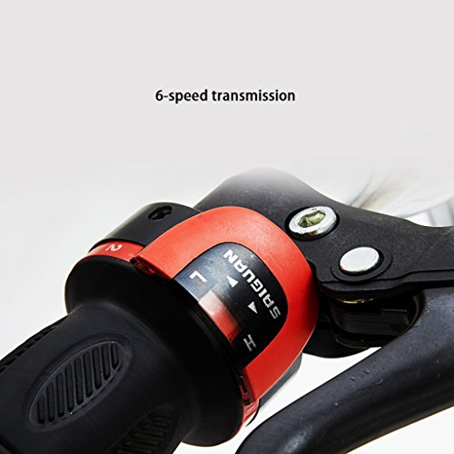 Vélo pliant 20 pouces Adulte Bicyclette Absorbeur de vitesse pour hommes et femmes vélo en acier à haute teneur en carbone, noir/rose (Color : Black)