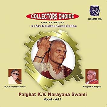 Palghat K. V. Narayana Swami, Vol. 1 (Live)