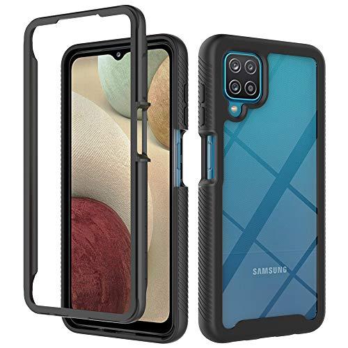 Samsung Galaxy A12 Hülle (Vergilbungsfrei) Ultra Klar Kratzfest Flexibles (Stoßfestigkeit Schutz) Anti-Fingerabdruck Handyhülle Samsung Galaxy A12 Schutzhülle Crystal Series (Hardcase) 2021-6
