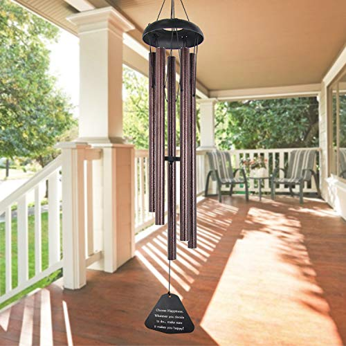 """ASTARIN Sympathy Wind Chimes Outdoor Large Deep Tone,36"""" Large Wind Chimes Outdoor Tuned Relaxing Melody,Memorial Windchime Amazing Grace Personalized for Garden Decor, Bronze(A Free Card)"""