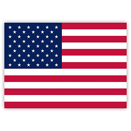 10 x Aufkleber USA-Flagge / Amerika-Fahne, 7,4 x 5,2 cm für innen und außen