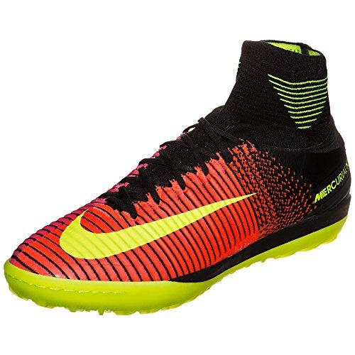 Nike Herren MercurialX Proximo II TF Fußballschuhe, Orange Karmesinrot (Total Crimson VLT Pnk BLST Blk), 45.5 EU