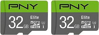 PNY 32 GB 2-Pack Elite MicroSD-kaart - (P-SDU32X2U185EL-GE)
