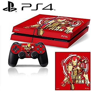 [PS4] Iron Man 3 Whole Body VINYL SKIN STICKER DECAL COVER for PS4 Playstation 4 System Console and Controllers by Ci-Yu-Online [並行輸入品]
