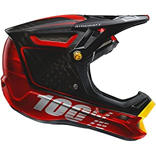 100 Percent Aircraft DH FF Lid - Bi-Turbo Red, Large / 100% Full Face Enduro Downhill Trail Dirt Jump Freeride MTB Mountain Biking Bike Bicycle Cycling Cycle Helmet Head Safety Guard Protection Sport Outdoor Off Road DH FR XC Clothing Clothes Gear