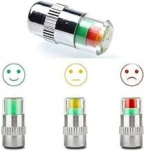 XIA-ZIHAN Car Tire Pressure Monitor Valve Stem Caps Tire Pressure Gauge Warning Cap Sensor Indicator Wheel Caps 3 Color Eye Alert 4Pcs